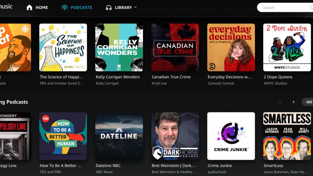 Amazon Music now has podcasts for customers in Canada