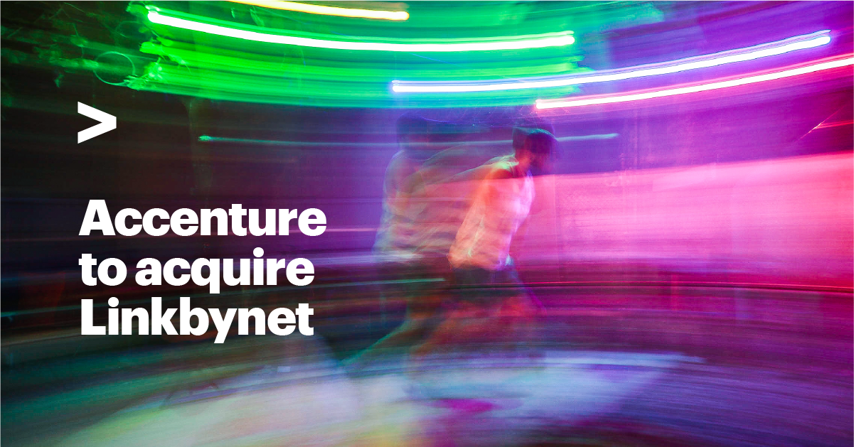 Accenture talks about its plans to acquire Linkbynet, a leading French cloud services provider