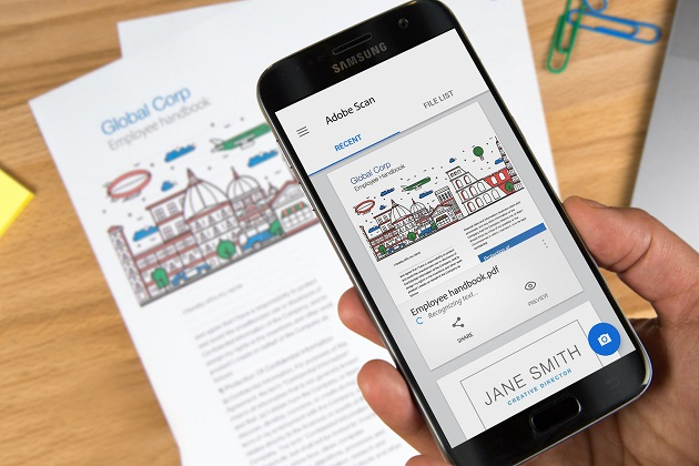 Adobe free app turns smartphones into document scanners
