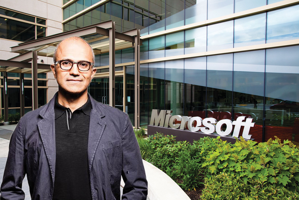 Microsoft is in third place to become first trillion dollar company